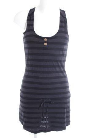 Oakley Jerseykleid schwarz-dunkelgrau Streifenmuster Casual-Look
