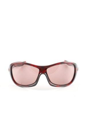 Oakley ovale Sonnenbrille rot-schwarz Allover-Druck Casual-Look