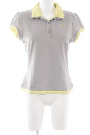 Oakley Polo-Shirt hellgrau-gelb sportlicher Stil