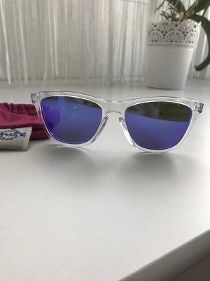 Oakley Lunettes de soleil bleu-blanc