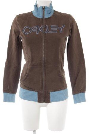 Oakley Sweatjacke hellbraun-himmelblau Casual-Look