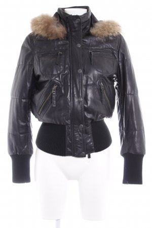 Oakwood Bikerjacke schwarz Casual-Look