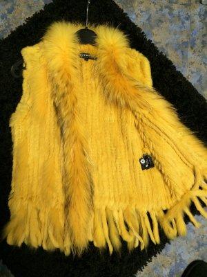 Oakwood Smanicato di pelliccia giallo