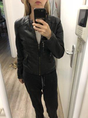 Oakwood echt Leder Jacke Lederjacke ohne Kragen Np 249€ Leo Futter