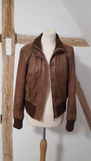 Oakwood Veste en cuir brun noir-bronze cuir
