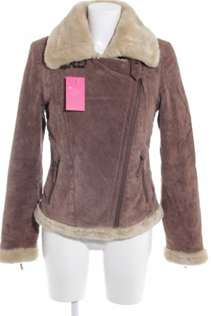 Oakwood Veste en fourrure marron clair-beige molletonné