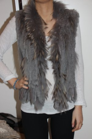 Oakwood Smanicato di pelliccia grigio Pelliccia