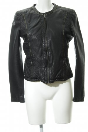 Oakwood Kunstlederjacke schwarz Casual-Look