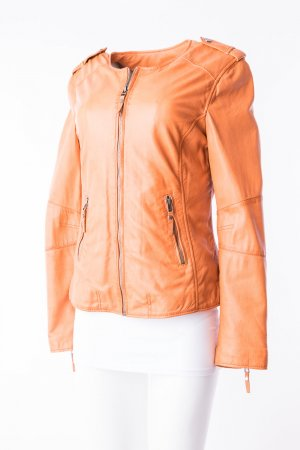 OAKWOOD - Lammnappa Lederjacke in Orange