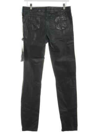 Oakwood Lederhose schwarz 90ies-Stil