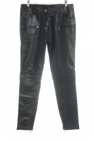Oakwood Pantalon en cuir noir Look de motard