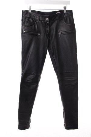 Oakwood Lederhose schwarz Biker-Look