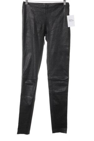 Oakwood Pantalón de cuero negro Estilo ciclista