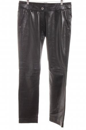 Oakwood Lederhose schwarz Rockabilly-Look