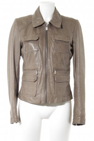Oakwood Lederjacke beige Matt-Optik