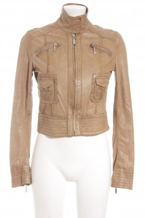 Oakwood Lederjacke beige Street-Fashion-Look