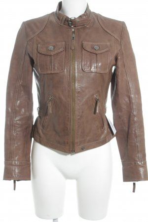 Oakwood Lederjacke braun Casual-Look