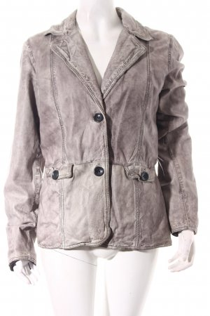 Oakwood Lederjacke grau Casual-Look