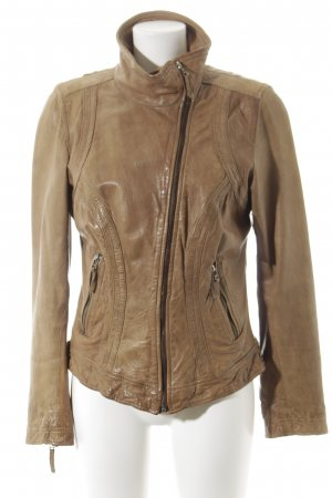 Oakwood Lederjacke hellbraun Casual-Look