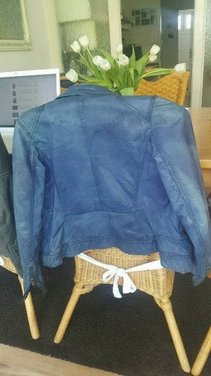 Oakwood Lederjacke in Blau