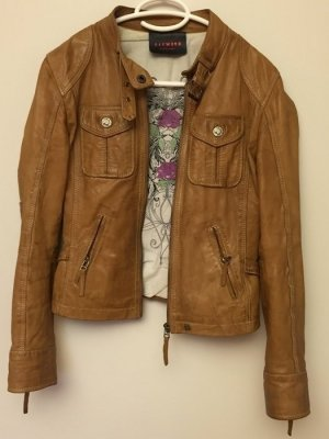 Oakwood Lederjacke in braun Gr. S