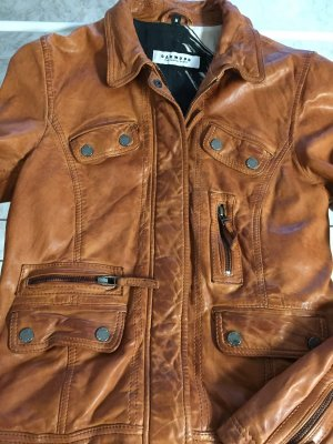 OAKWOOD Lederjacke in Cognac