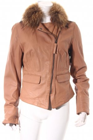 Oakwood Lederjacke nude Casual-Look