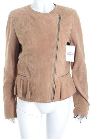 Oakwood Lederjacke sandbraun Street-Fashion-Look
