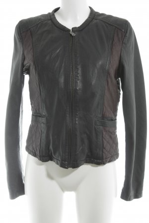 Oakwood Lederjacke schwarz-braun Street-Fashion-Look