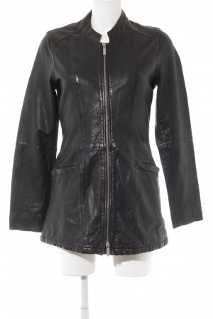Oakwood Leather Jacket black casual look