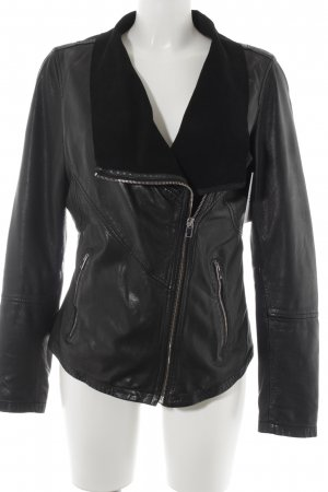 Oakwood Lederjacke schwarz Casual-Look