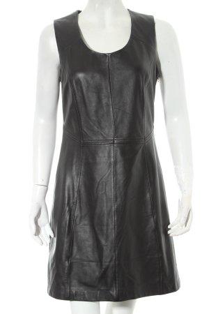 Oakwood Lederkleid schwarz minimalistischer Stil