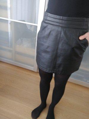 Oakwood Falda de cuero negro