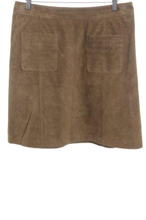 Oakwood Leather Skirt camel minimalist style