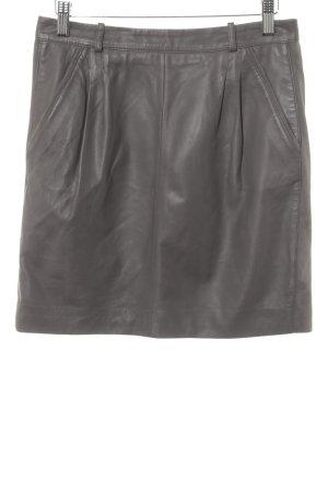 Oakwood Falda de cuero gris elegante