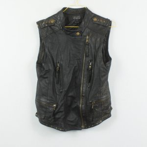Oakwood Leather Vest black leather