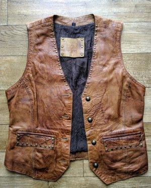 Oakwood Gilet en cuir brun-marron clair cuir