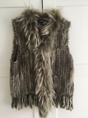 Oakwood Smanicato di pelliccia argento-grigio