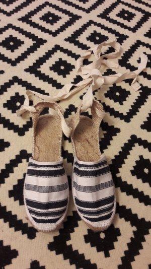 OAS Espas Espadrilles Espadrillos Sandalen Streifen zum Binden Schnüren 40
