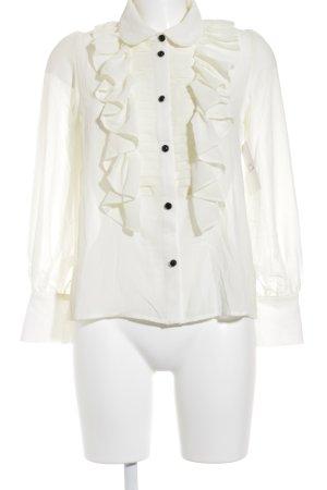 Oasap Rüschen-Bluse creme Elegant