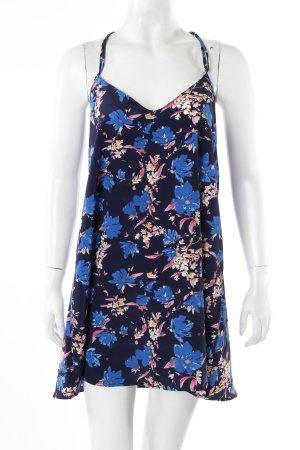 Oasap Trägerkleid dunkelblau Blumenprint
