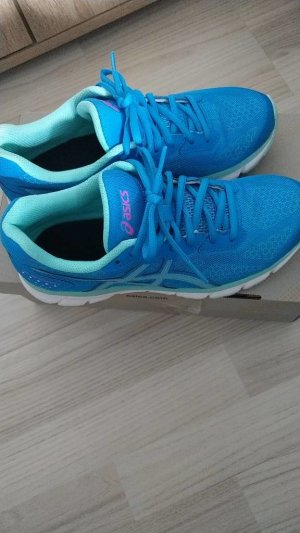 Oasics Diva blue/aqua splash pink glow