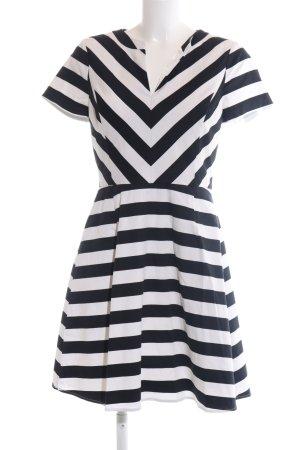 Oasis A-Linien Kleid weiß-schwarz Streifenmuster Casual-Look