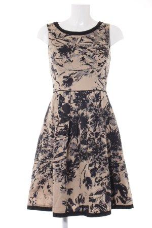 Oasis A-Linien Kleid schwarz-nude florales Muster Business-Look