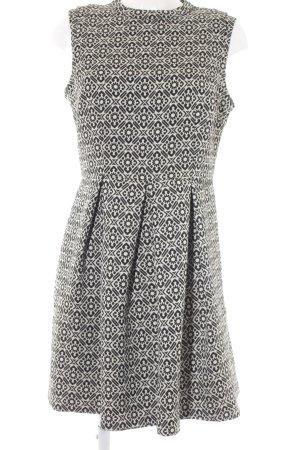 Oasis Ballonkleid schwarz-weiß abstraktes Muster Elegant
