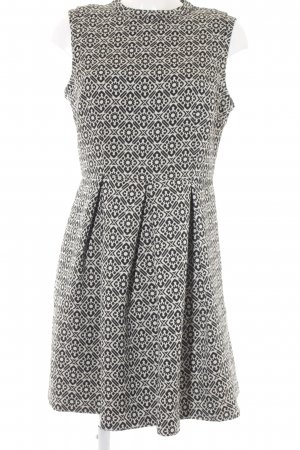 Oasis Balloon Dress black-white abstract pattern elegant