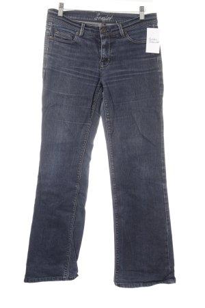 Oasis Boot Cut Jeans blau Casual-Look