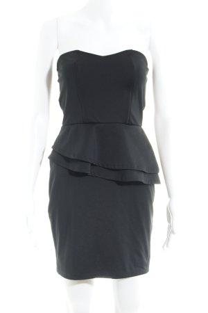 Oasis Vestido bustier negro look efecto mojado