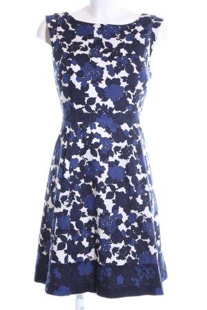 Oasis Cocktailkleid blau-weiß Blumenmuster Casual-Look