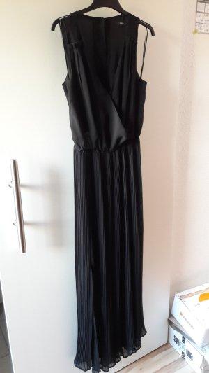 Oasis Chiffon jurk zwart-goud Polyester